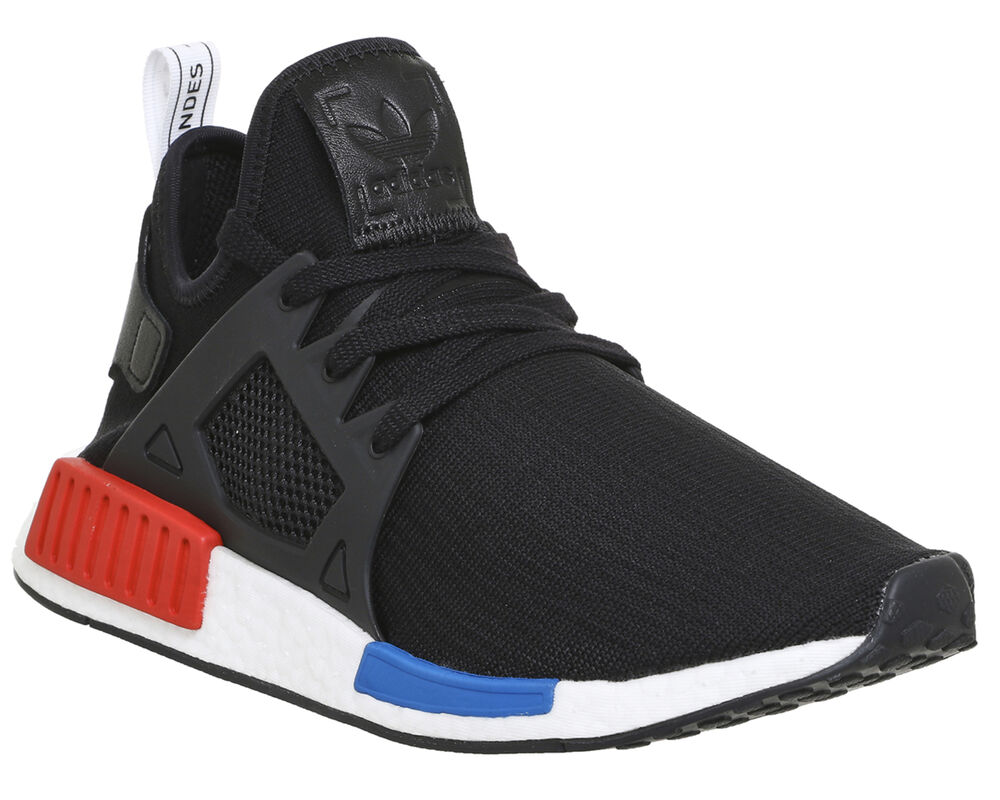 2722b96cced03 Adidas Nmd Xr1 BLACK RED BLUE WHITE PK Trainers Shoes