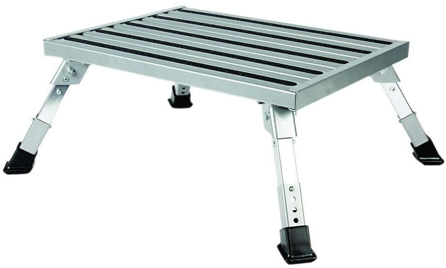 Platform Step Stool Adjustable Height Metal Folding