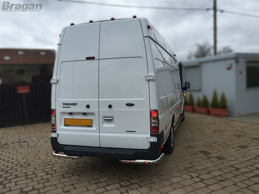 to fit 07 14 ford transit mk7 stainless steel rear. Black Bedroom Furniture Sets. Home Design Ideas