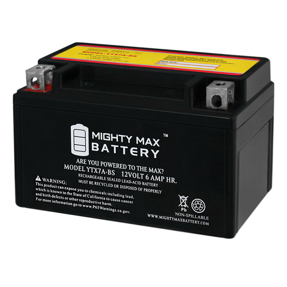 mighty max ytx7a bs battery for gas gy6 scooter moped 50cc 125cc ebay. Black Bedroom Furniture Sets. Home Design Ideas