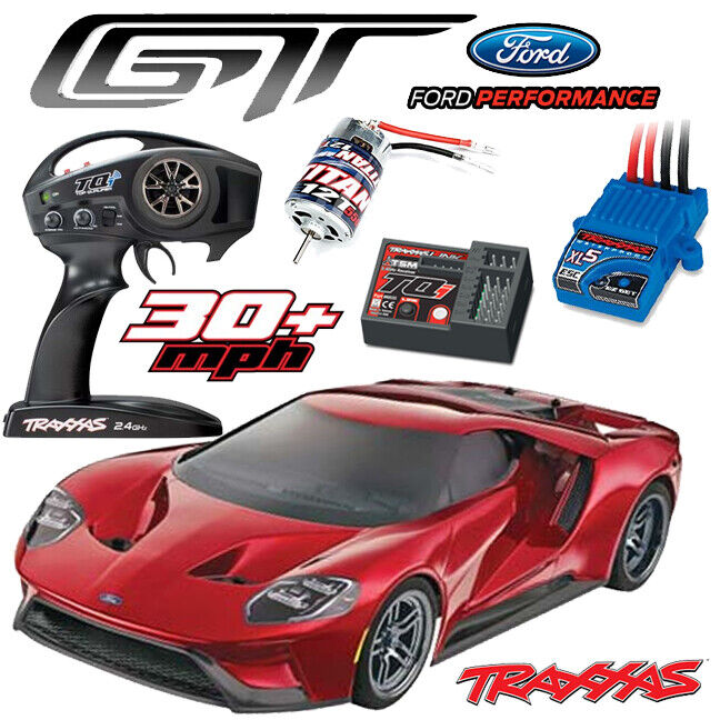 Details About Traxxas    Ford Gt Awd Supercar Rtr Red
