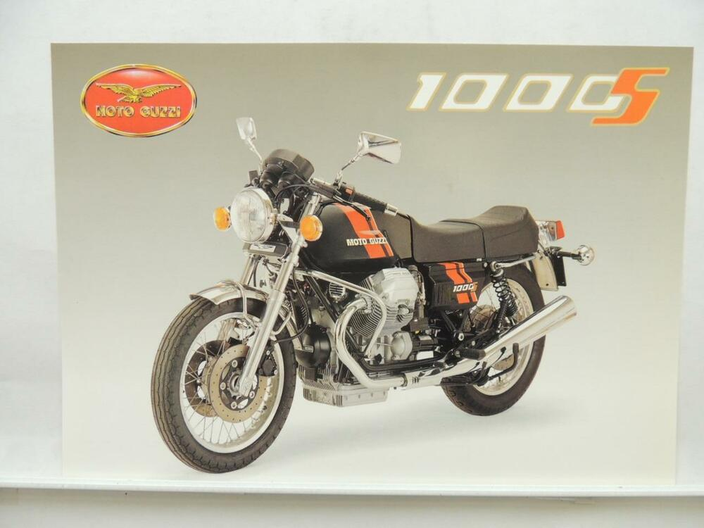 italian motorcycle moto guzzi 1000s brochure. Black Bedroom Furniture Sets. Home Design Ideas