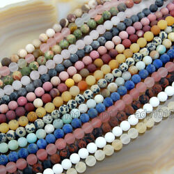 Kyпить Wholesale Natural Matte Gemstone Round Spacer Loose Beads 4mm 6mm 8mm 10mm 12mm на еВаy.соm