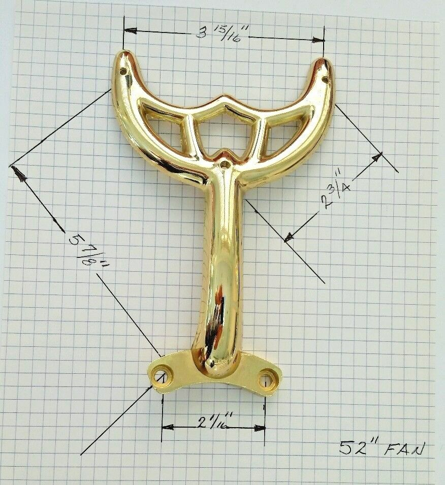 """52""""Polished Brass Ceiling Fan Blade Arm Replacement For"""