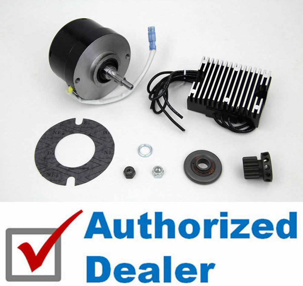 s l1000 black generator alternator 12 volt 17 amp conversion kit harley