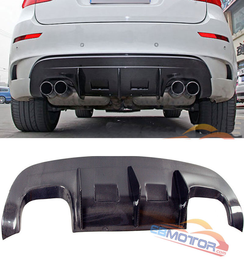 A TYPE Carbon Fiber Rear Diffuser Spoiler For BMW E71 X6 M