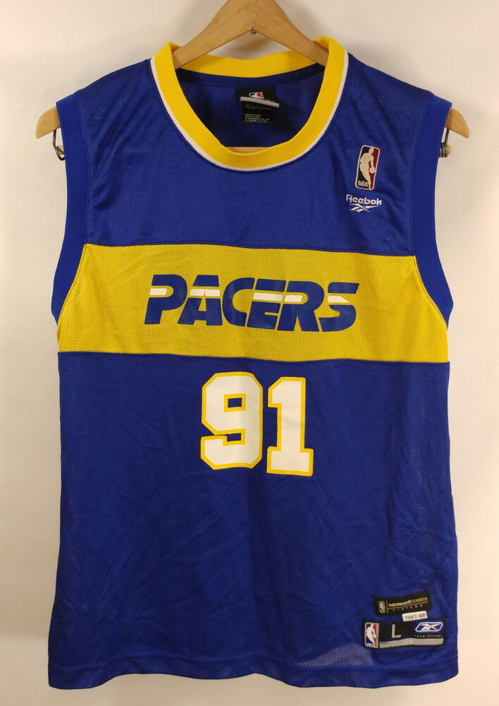 ... Ron Artest 91 Indiana Pacers NBA Authentic Jersey Reebok Metta World  Peace Youth eBay ... ec34826d3