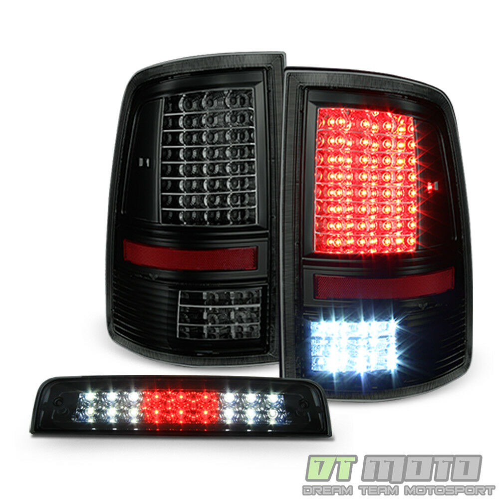 2009 2016 Dodge Ram 2500 3500 Smoke Led 3rd Third Brake: 2009-2018 Dodge Ram 1500 2500 3500 Full LED Tail Lights
