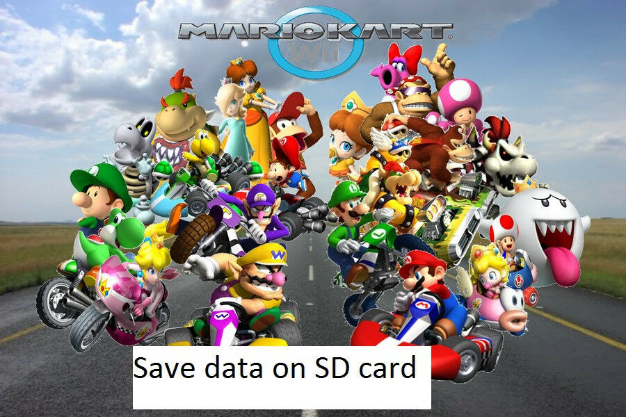 game save on sd card for mario kart wii 100 cheat file ebay. Black Bedroom Furniture Sets. Home Design Ideas