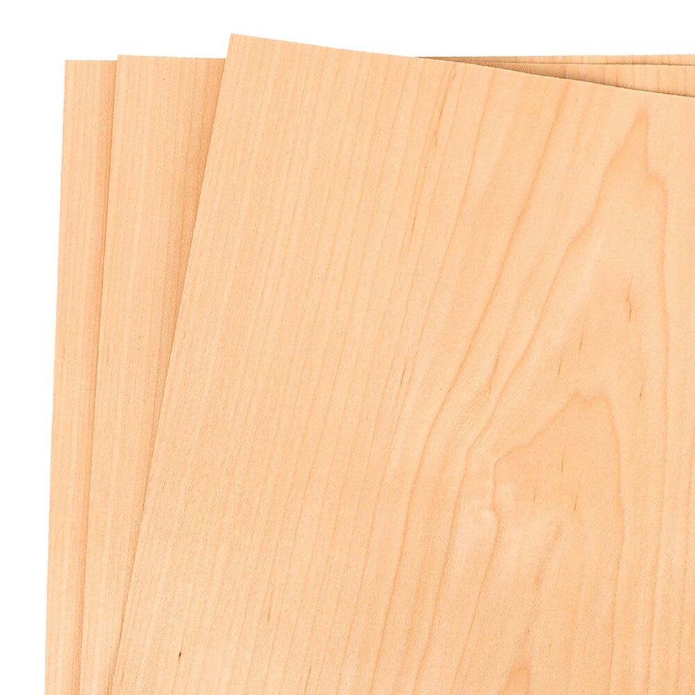 Maple Wood Veneer Raw Unbacked 12 Quot X 12 Quot 1 X 1 Pack Of