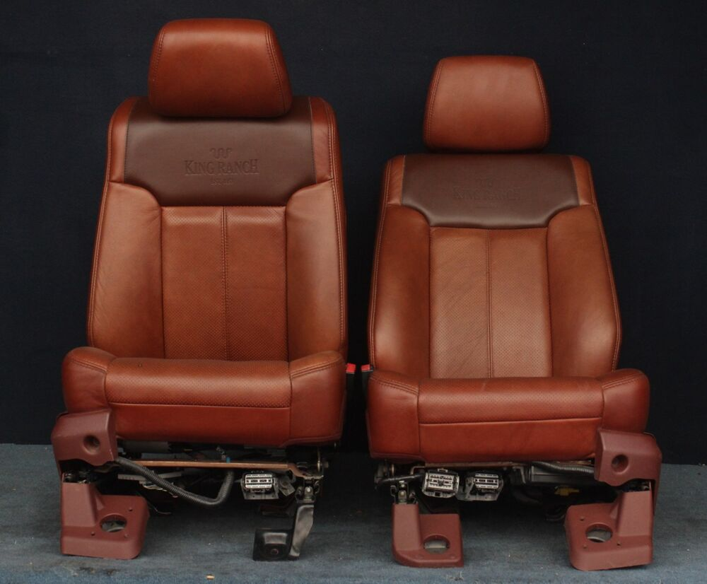 Ford F150 King Ranch >> 2011 2012 Ford F250 King Ranch Front Seats | eBay