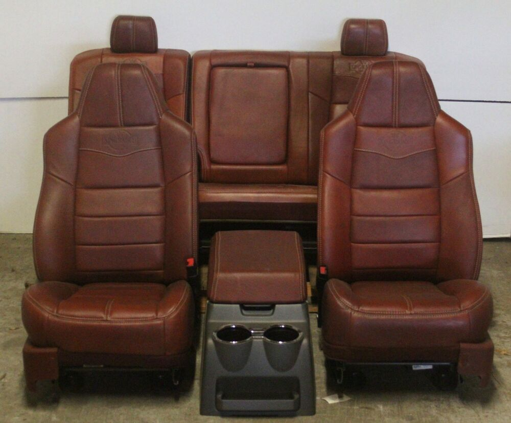 2008 2010 Ford King Ranch Front Rear Seat Leather Ebay
