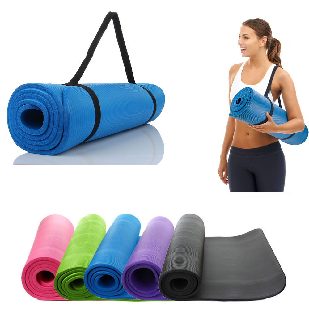 Thick Yoga Mat Exercise Fitness Pilates Camping EVA