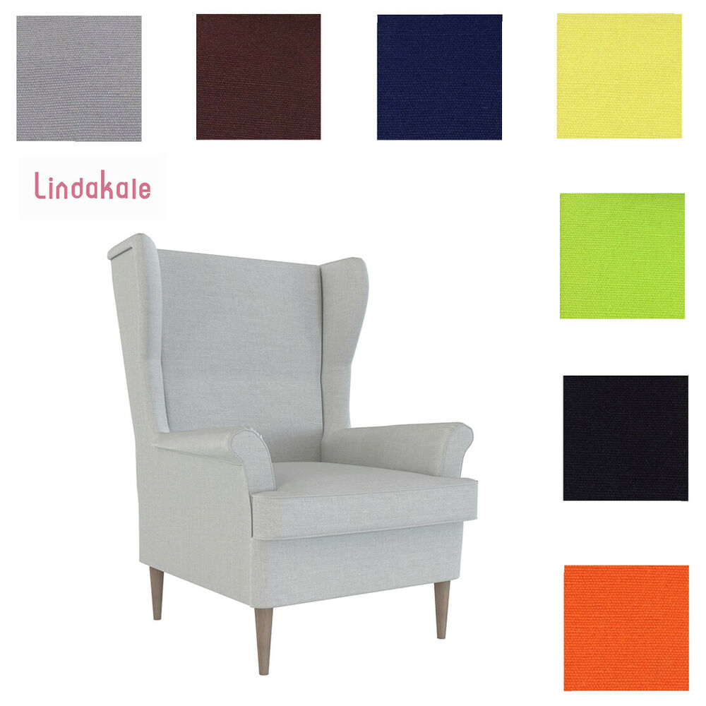 custom made cover fits ikea strandmon chair replace armchair cover ebay. Black Bedroom Furniture Sets. Home Design Ideas