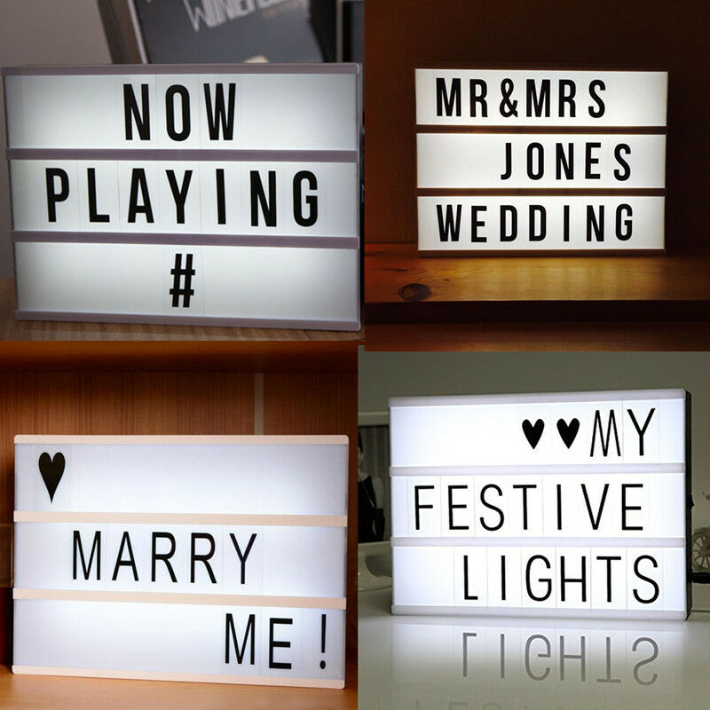 led leuchtkasten inkl 90 buchstaben symbole a4 batteriebetrieb lampe lichtbox ebay. Black Bedroom Furniture Sets. Home Design Ideas