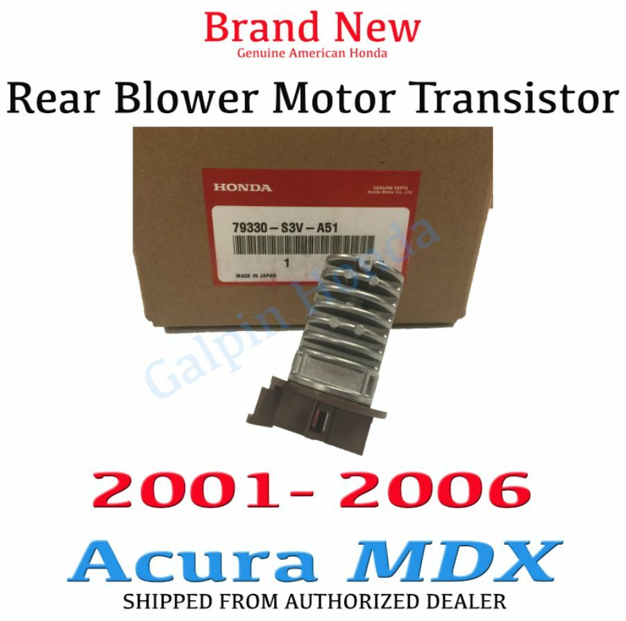 2006 Acura MDX Rear Blower Motor Transistor Genuine