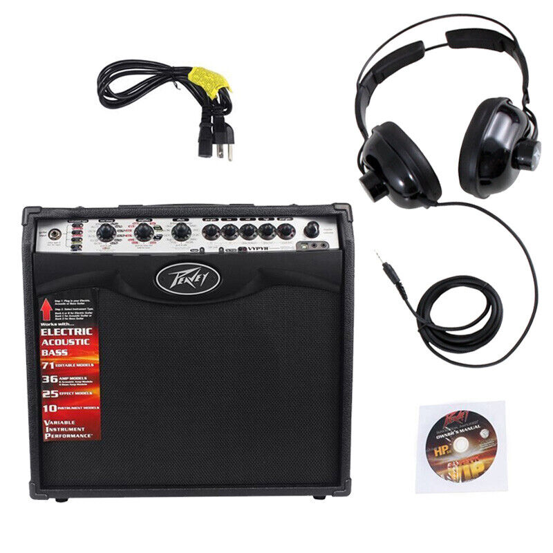 peavey vypyr vip2 combo amp 12 modeling guitar amplifier practice headphones 695976336798 ebay. Black Bedroom Furniture Sets. Home Design Ideas