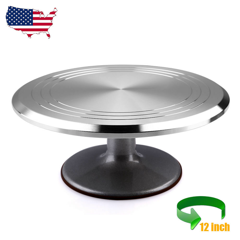 """12"""" Rotating Revolving Cake Stand Decorating Plate Kitchen ..."""