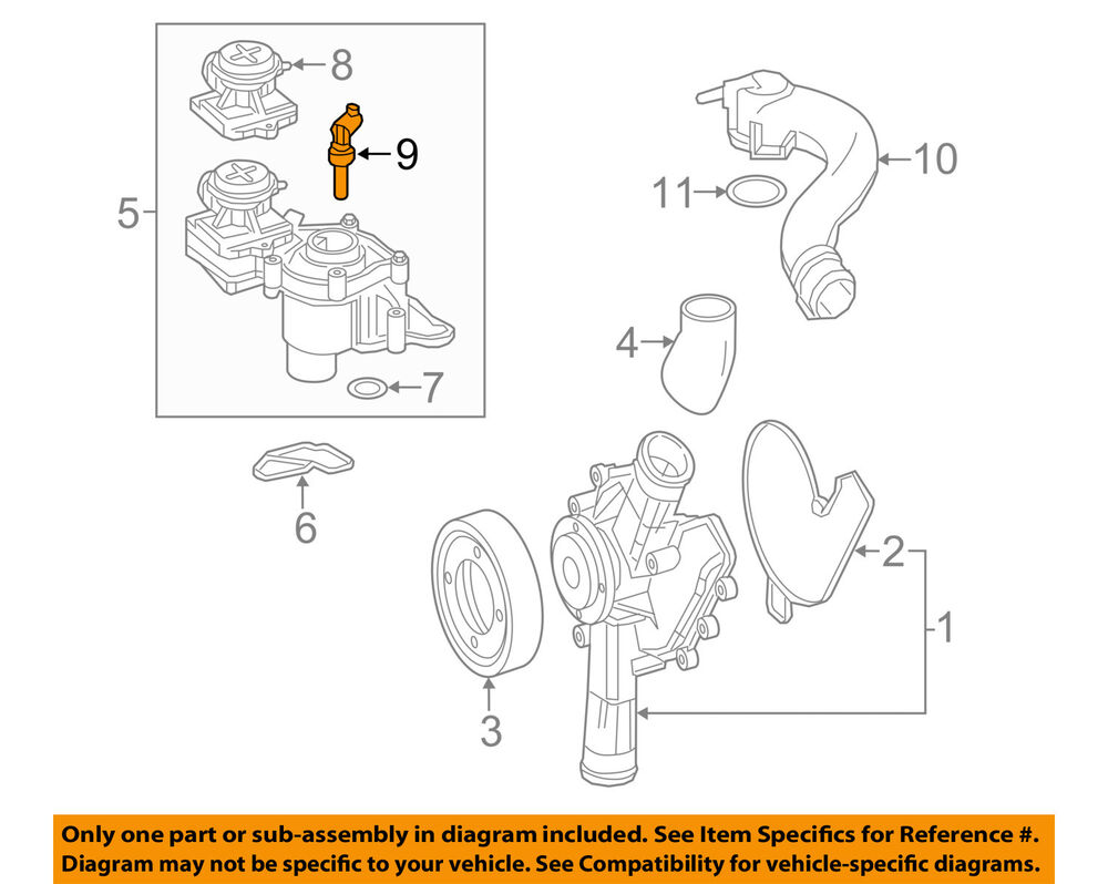 Mercedes Benz Oem Radiator Coolant Temperature Sensor Maybach Engine Diagram 0999053800 Ebay