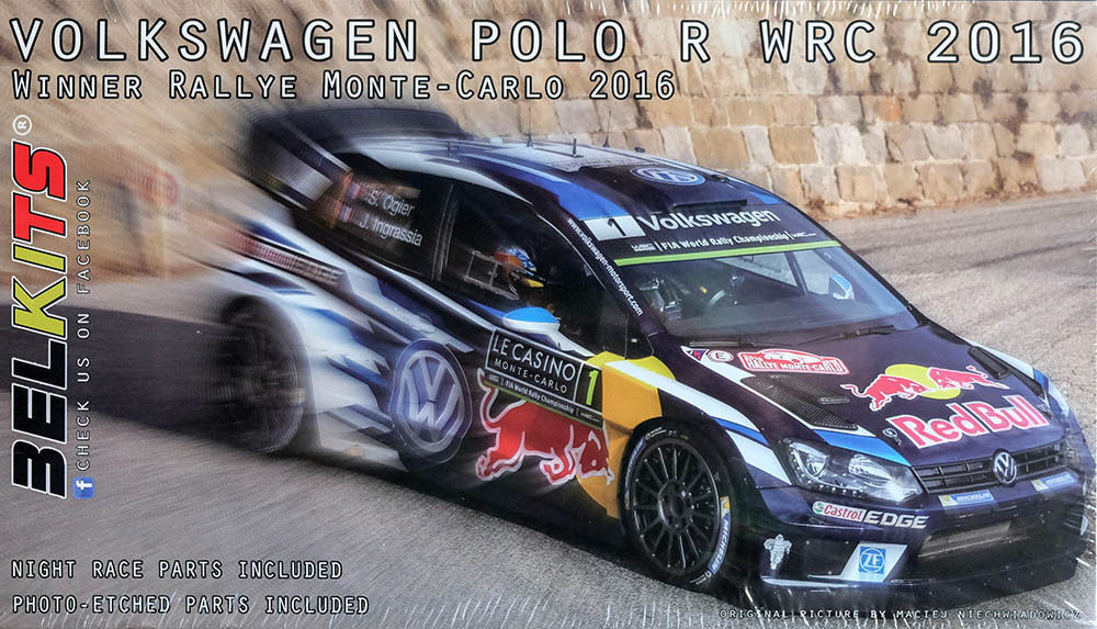 belkits volkswagen polo r wrc 2016 montecarlo rally winner 1 24 cod bel011 ebay. Black Bedroom Furniture Sets. Home Design Ideas