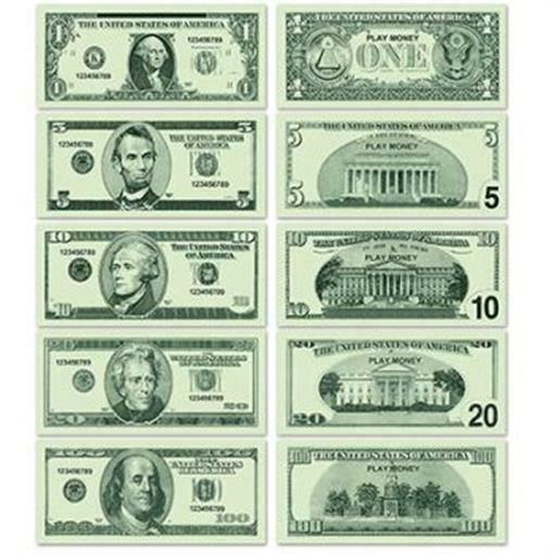 Dramatic image throughout printable fake money