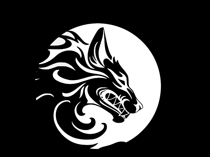 Tribal Wolf Werewolf Moon Vinyl Decal Car Wall Window Sticker Choose