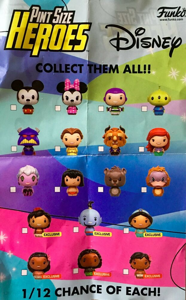 9a79f8682b5 Details about DISNEY PINT SIZE HEROES Series 1 Belle Beast Ariel Buzz Zurg  Aladdin YOU PICK