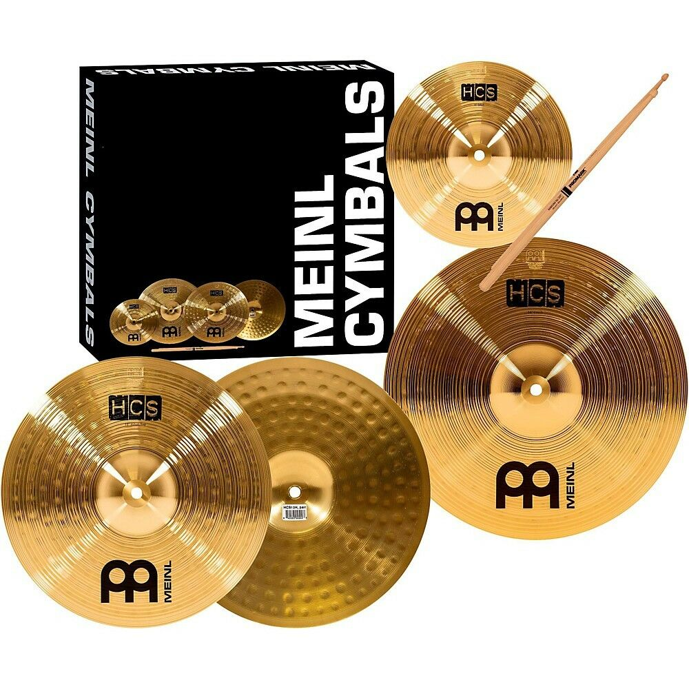 meinl hcs cymbal pack with free splash sticks and lessons 695976080653 ebay