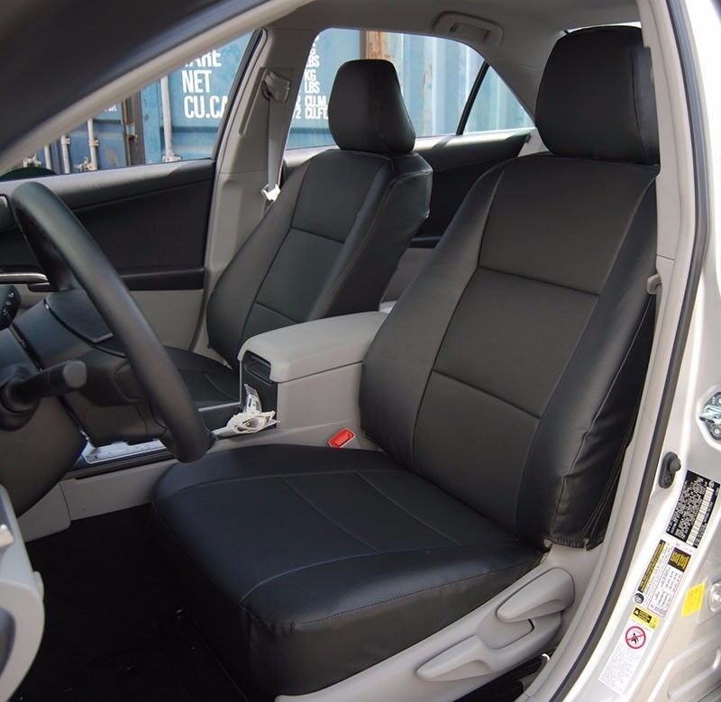 Toyota Camry 2012 2016 Black Iggee S Leather Custom Fit