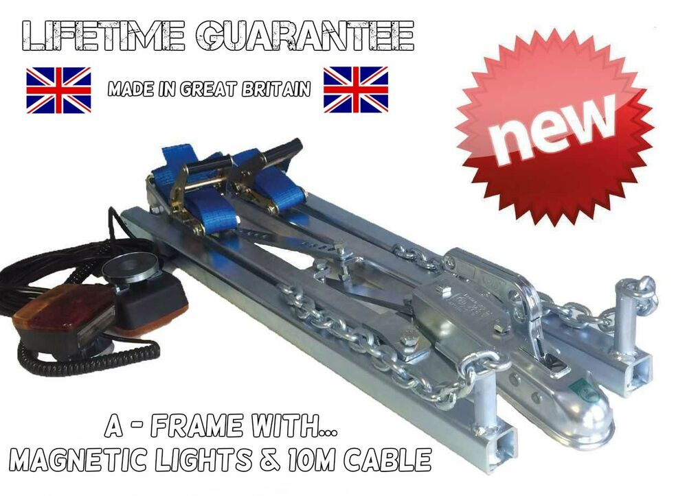 ONE MAN SOLO 2.5T CAR RECOVERY A FRAME TOWING DOLLY TRAILER + ...