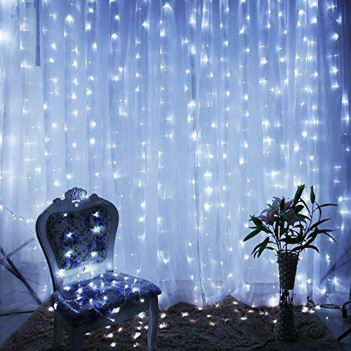 Led String Lights Reject Shop: White 300 LED 3x3m Fairy Curtain String Lights Wedding