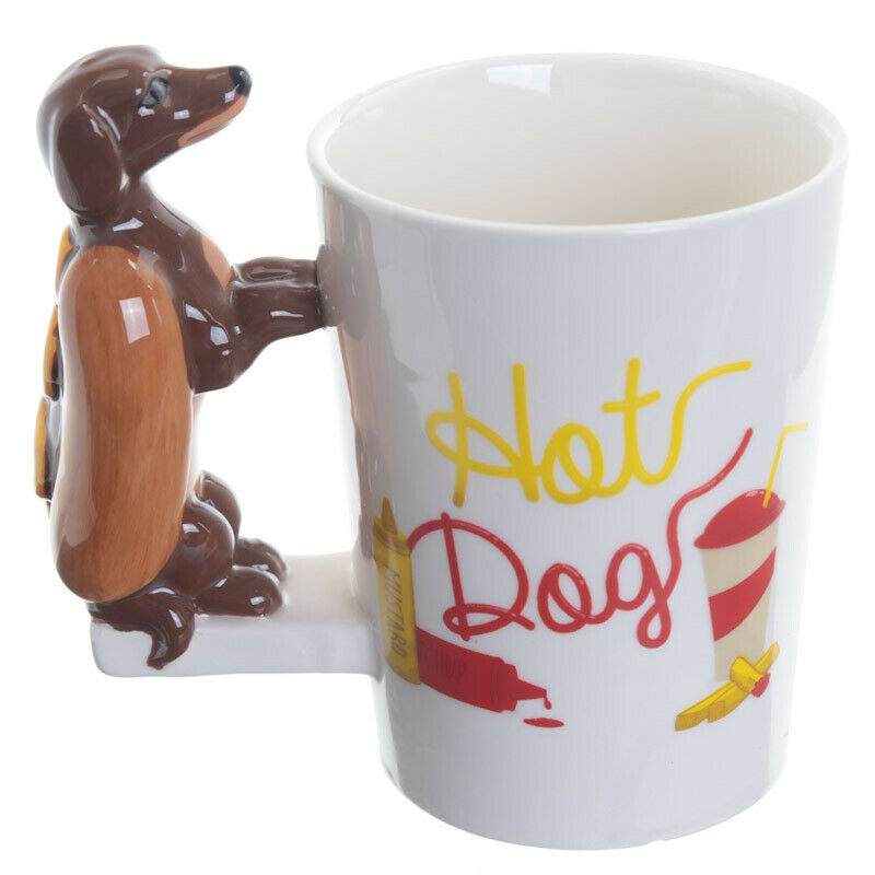 tasse hot dog dackel im br tchen kaffeetasse tee hund geschenk hundeliebhaber 5055071719936 ebay. Black Bedroom Furniture Sets. Home Design Ideas