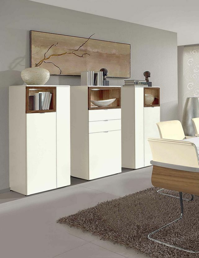 venjakob highboard andiamo kombination an01 lack wei matt colorado nussbaum ebay. Black Bedroom Furniture Sets. Home Design Ideas