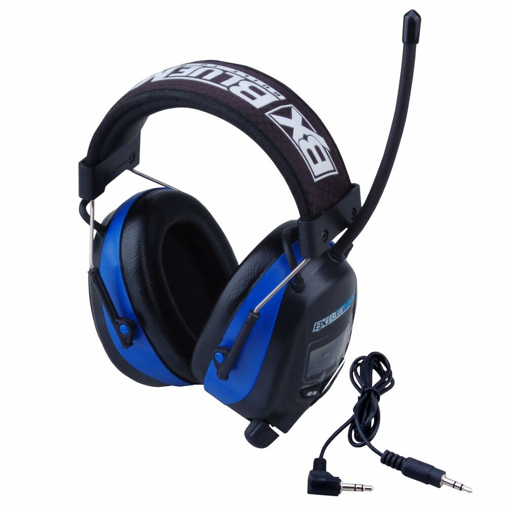 Blue Max Digital AM/FM Stereo Earmuffs Ear Protection