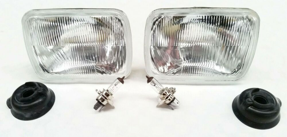 details about mazda b2000 b2200 b2600 headlights head lamps h4 set of 2  bulbs included