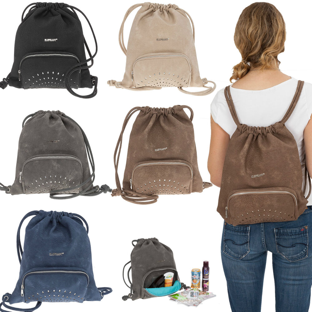 beutel elephant glam shine damen rucksack handtasche damenrucksack kunstleder wa ebay. Black Bedroom Furniture Sets. Home Design Ideas