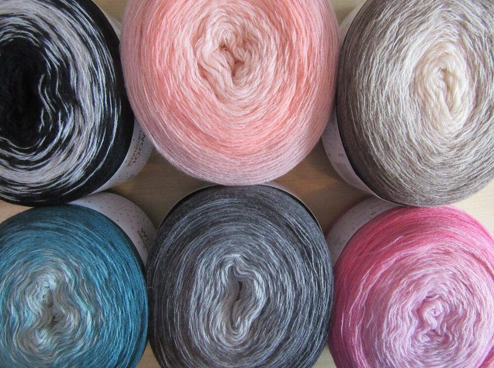 200g Rico Creative Wool D 233 Grad 233 Double Knitting Yarn Cakes