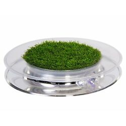 Petstages Invironment Nature Track Cat Toy Faux Grass Spin Ball