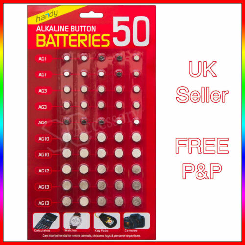 New 50 PowerCell Batteries For Watches Remote AG 364 392 377 393 389 386 UK