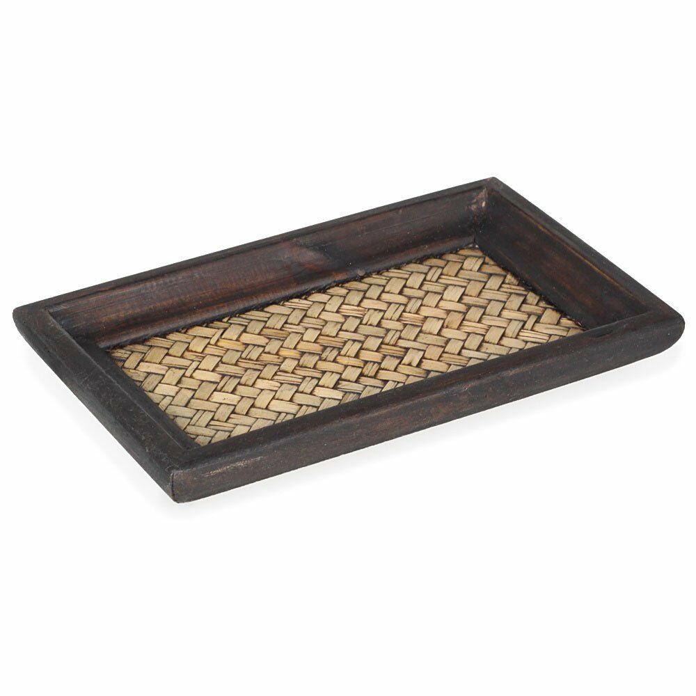 acba3d48a854 Details about Vintage Bamboo Serving Tray Plate Handmade Kitchen Crafted  Gift Wood Handcrafted