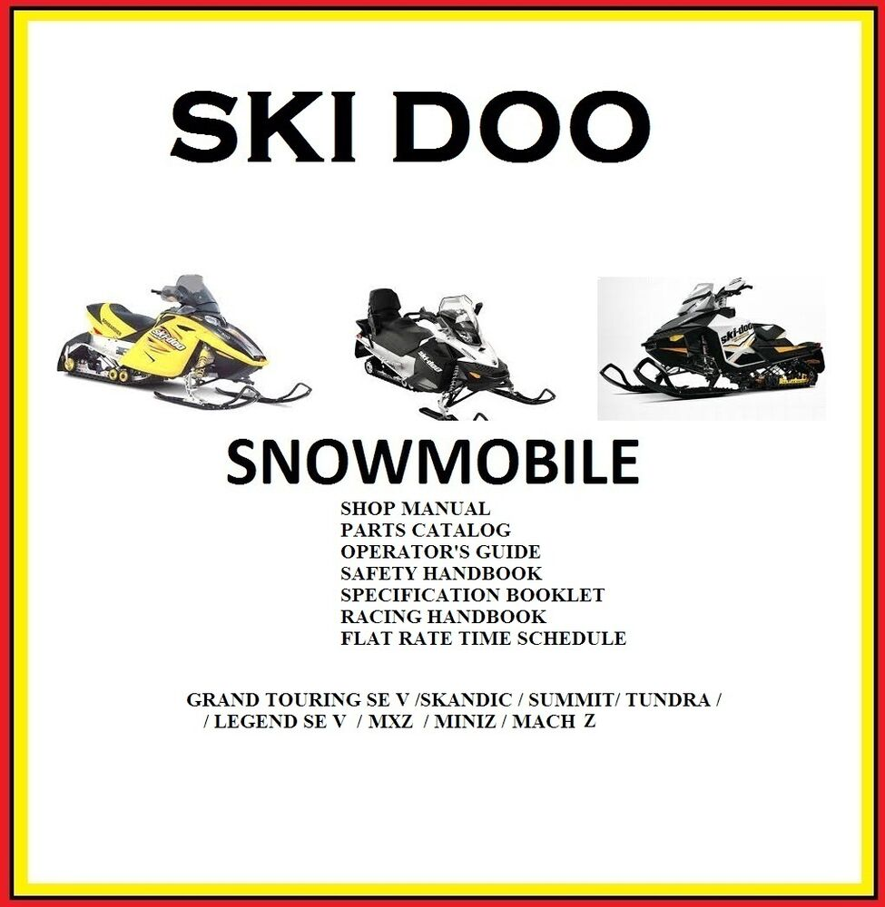 SKI DOO SNOWMOBILE 2003 SERVICE PACK PARTS SPECIFICATION ALL MODEL  #Snowmobile | eBay