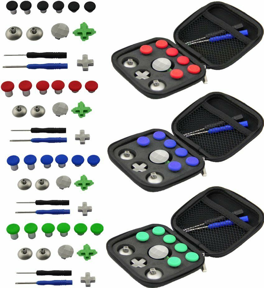 11pcs Magnetic Thumbsticks Buttons Tool Kit For Xbox One Elite Ps4 Emio Controller Blue Colour Ebay