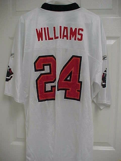 ef23abbcf9 CADILLAC WILLIAMS 24 Tampa Bay Buccaneers White Football Mesh Jersey XL NFL
