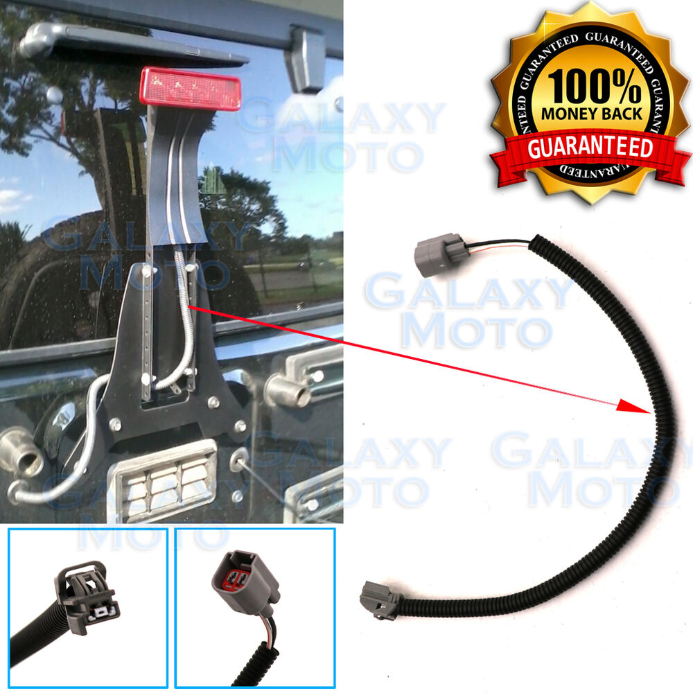 15 3rd Brake Light Extension Cable Wire Harness Cover For 07 17 Gmc Third Wiring Jeep Wrangler Ebay