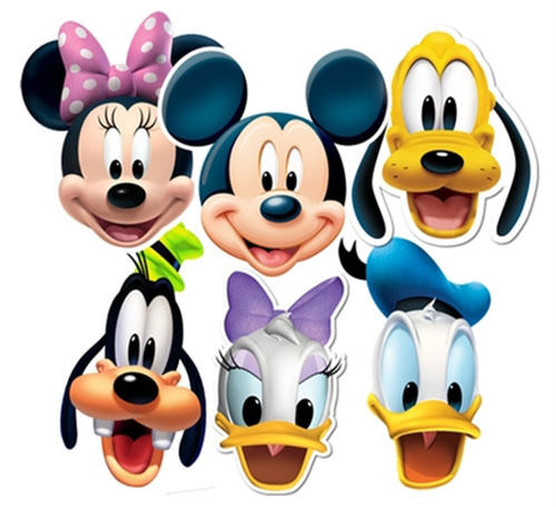 Mickey Mouse And Friends Face Mask Set Of 6 (Minnie Donald