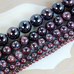 Kyпить Natural Dark Red Garnet Round Gem Loose Beads 15.5