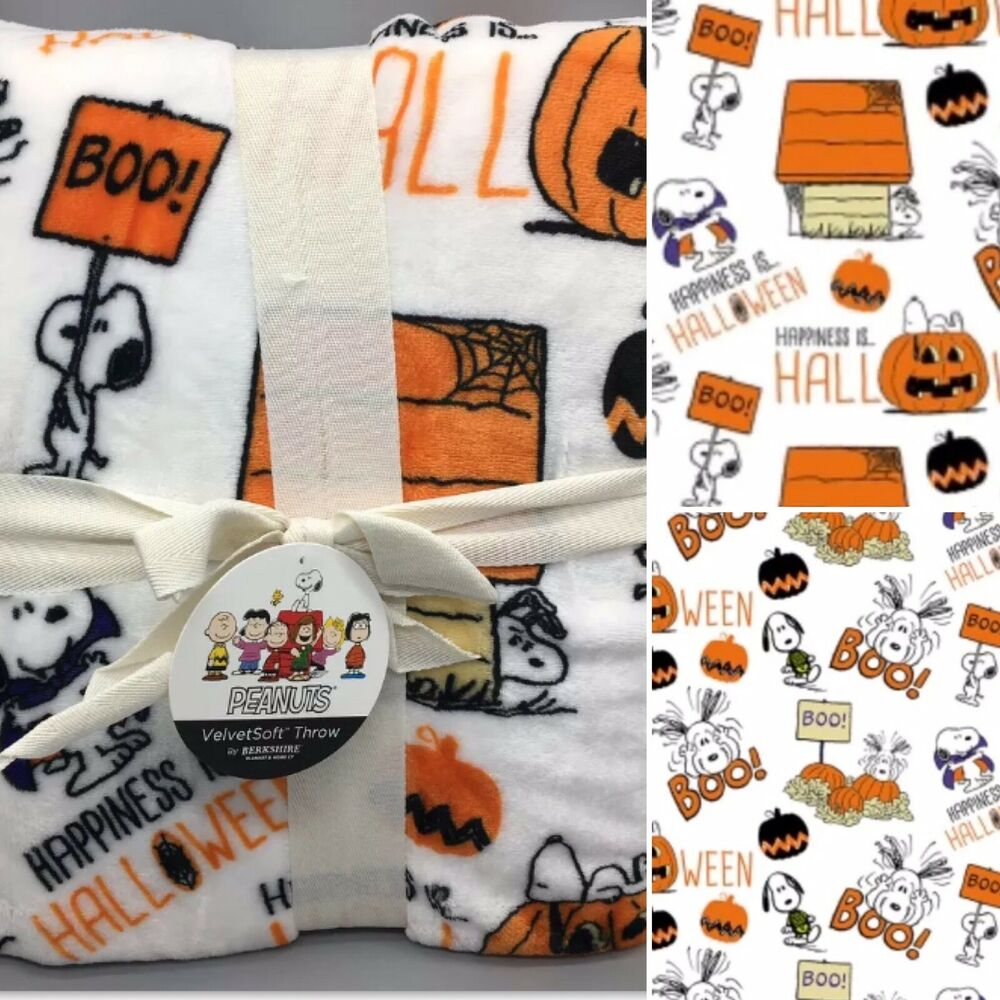 Peanuts Berkshire Halloween Blanket Velvetsoft Throw Great