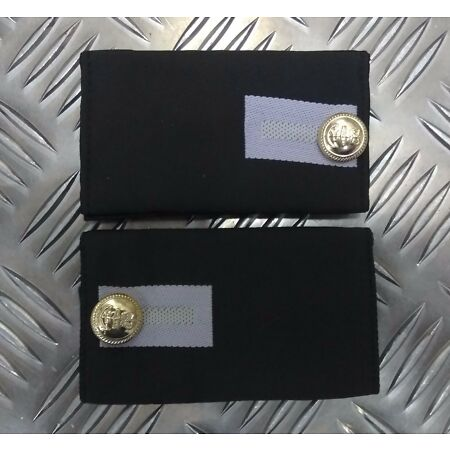 img-Genuine British Royal Navy Midshipmen Shoulder Boards Complete With Buttons- NEW