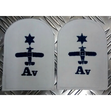img-Genuine Pair of Royal Navy RN Air Engineering Avionics Patches / Badges - NEW