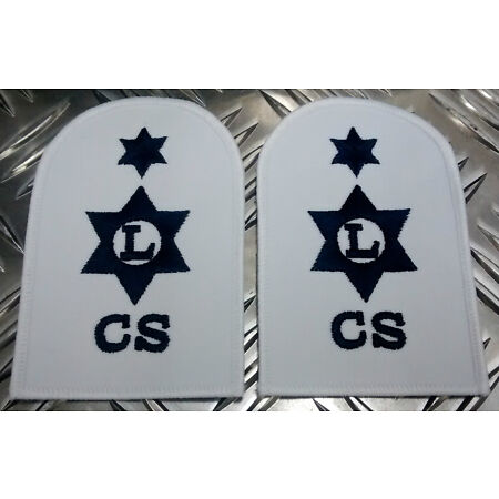 img-Genuine Pair of Royal Navy RN Logistics Catering Service AR Patches/Badges-NEW